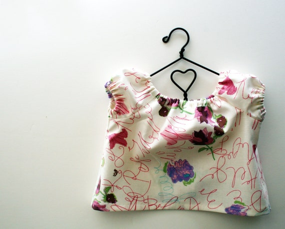American Girl Doll Clothes - Art Scribble Peasant Swing Top