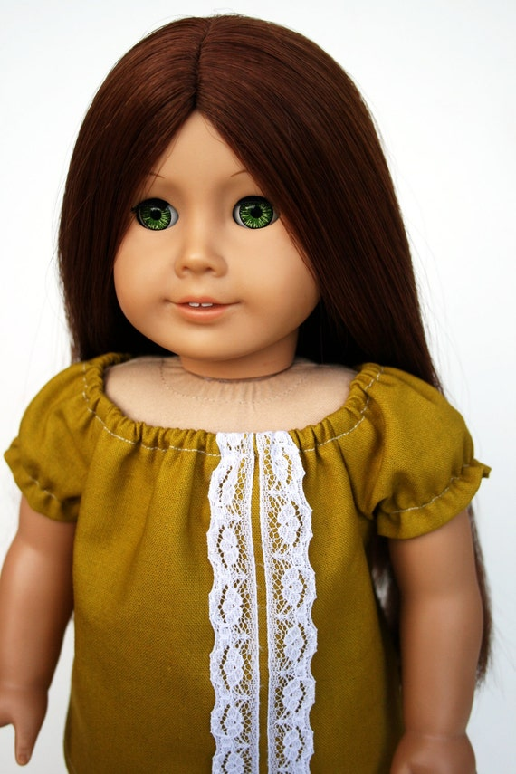 American Girl Doll Clothes - A Peasant Top in Echino Green