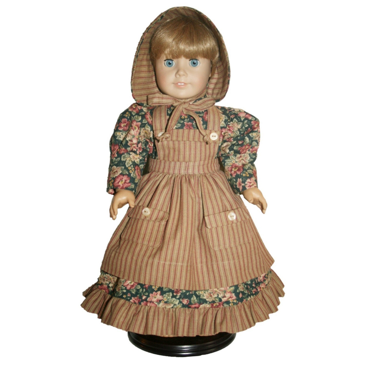 18 Inch Doll Outfit Old Fashioned Dress Apron And Bonnet