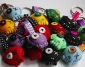 Soft and Sinister - Felt Skull Key rings