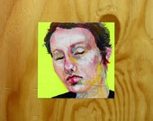 One Hour Self Portraits 11 & 8 - painting on wood panel - BOGO