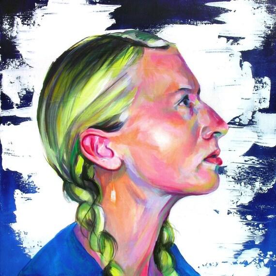Rachael Helga 2 - oil painting on canvas