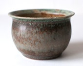 Turquoise and Lavender Stoneware Pot