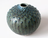 Blue and Emerald Bud Vase, Stoneware