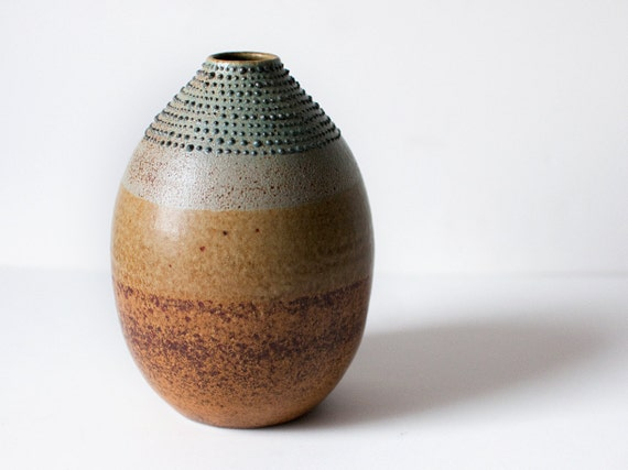 Rustic Bottle with Spotted Detailing