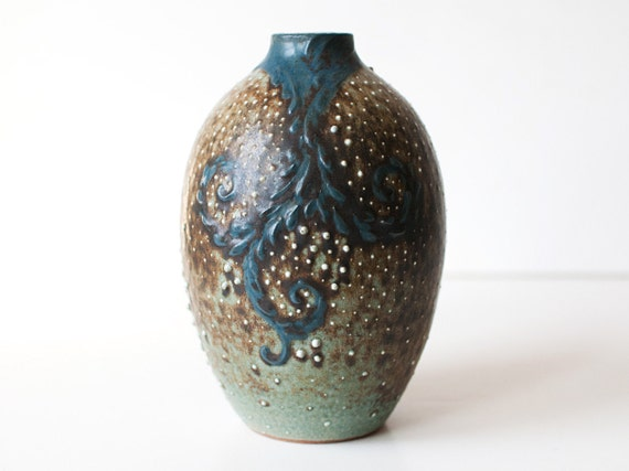 Starry Night Vase, Stoneware: Reserved for Rhoda