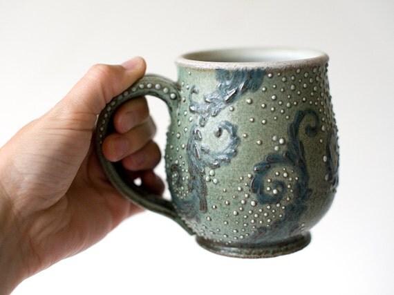 RESERVED for Kimberlee: Starry Night Mug, Stoneware, 16 Ounces