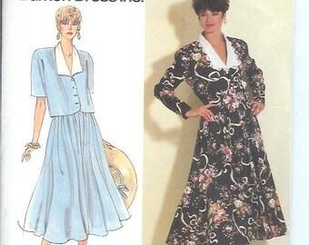 Simplicity Misses Miss-Petite DRESS Two Piece  Sewing Pattern 7371 Size U5  16-24   By Damon Dress Inc. UNCUT