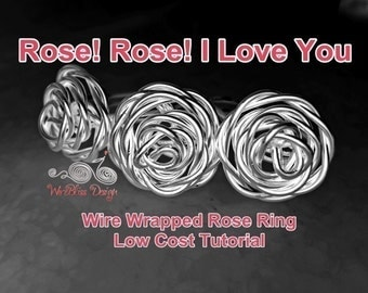 WIRE JEWELRY TUTORIAL - Wire Wrapped Rose Ring