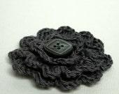 Flower Corsage - Slate Grey