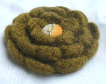 Flower Brooch - Olive & Sunshine Corsage