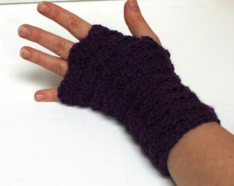 Fingerless Gloves Wristwarmers -Purple Haze