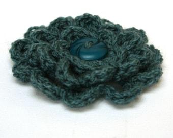 Flower Corsage / Brooch - Sea Blue