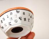 Mini Alphabet Bowl