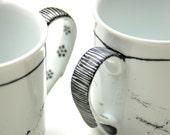 Black strokes mug
