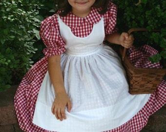Little RED RIDING HOOD Dress/Costume Set Custom Child Size