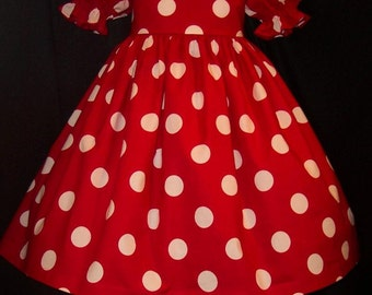 Red/White Dot DELUXE Dress costume