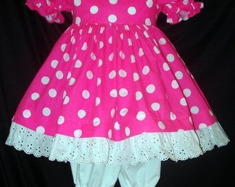 PINK/White Dot DELUXE Dress Costume