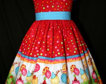 Birthday Kitties Sun Jumper CUSTOM Size DRESS