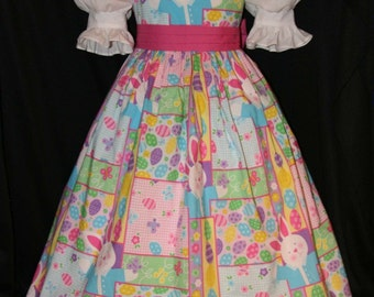 EASTER Bunny PATCHWORK Dress CUSTOM Size