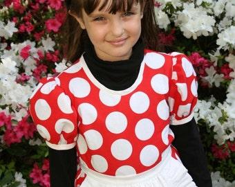 Minnie MOUSE Twirly 4-pc COSTUME Set