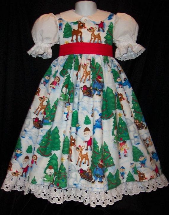 VHTF RUDOLPH Misfit Toys Christmas Dress CUSTOM Size