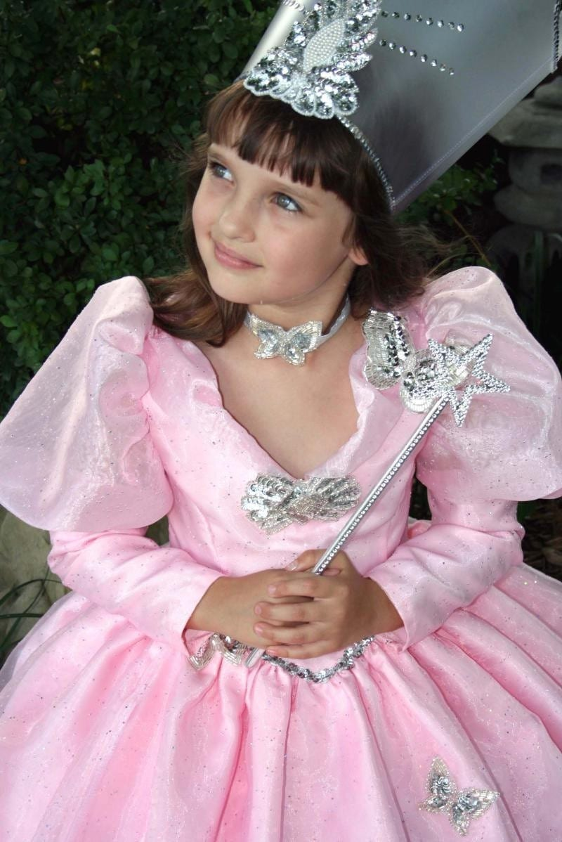 AMAZING Wizard of Oz GLINDA the GOOD Witch Costume Set Child