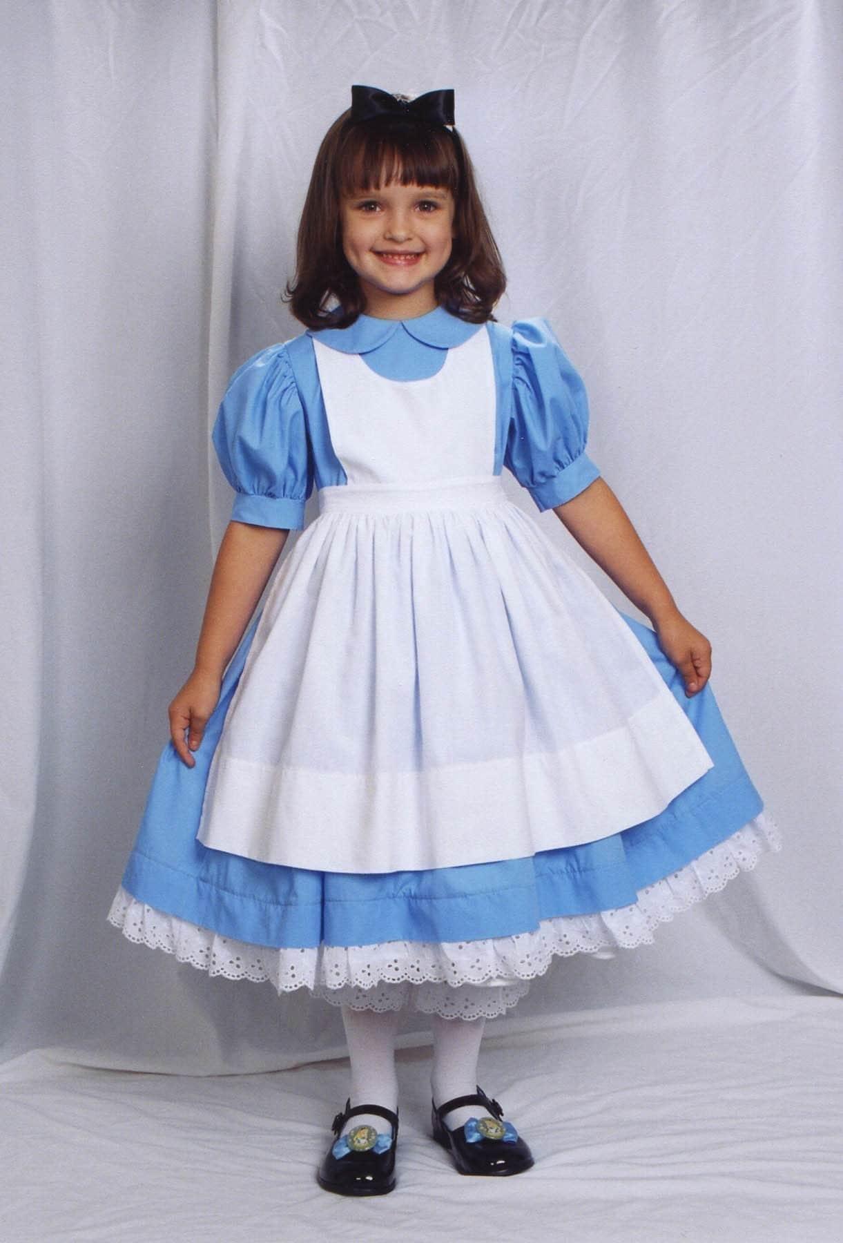 Disney Alice In Wonderland Dress Costume Set Custom Sz