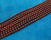Antique Copper 2mm Ball Chain and Connectors...5 feet