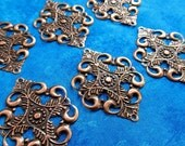 Fancy Victorian Diamond Filigree, Antique Copper (FL-SM-10372-AC)