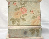 Memories of a Shabby Chic Rose Music Box Chest