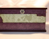 SPECIAL ORDER for AMY - Purple & Green Large Jewelry Box