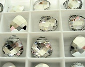 2 Crystal CAL Swarovski Pendants Briolette 6012 15mm