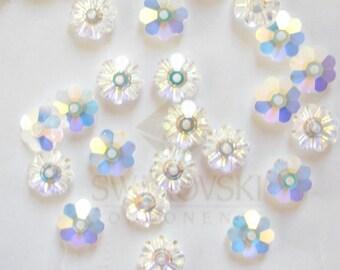 20 Crystal AB Swarovski Margarita Spacer Beads 3700 6mm