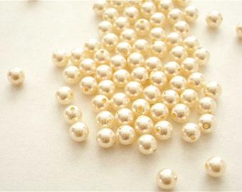 100 Creamrose Swarovski Crystal Beads Pearls 5810 4mm
