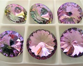 6 Crystal Vitrail Light Swarovski  Rivoli Stone 1122 12mm