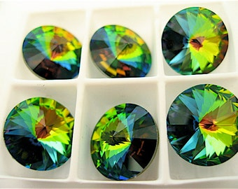 6 Crystal Vitrail Medium Swarovski  Rivoli Stone 1122 12mm