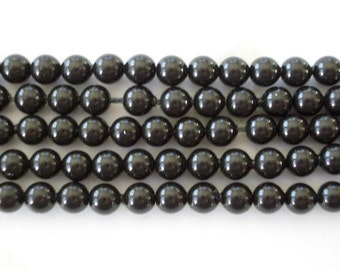100 Mystic Black Swarovski Crystal Beads Pearls 5810 4mm