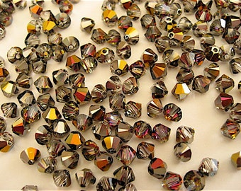 48 Crystal Volcano Swarovski Beads Bicone 5328 4mm