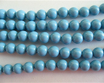 100 Turquoise Swarovski Crystal Beads Pearls 5810 4mm
