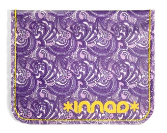 Purple Lilac Nouveau Swirl Cotton / Vinyl Wallet
