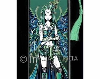Zoe Moon and Stars Celestial Fairy Art Bookmark by Myka Jelina