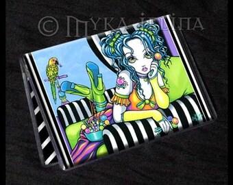 Candy Rainbow Fairy Art ID Business Card Holder Alisha