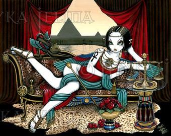 Mayet Egyptian Goddess Angel Art Print