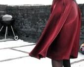 Crimson Satin Skirt