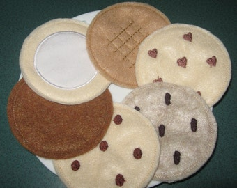 Felt Playfood Cookies Machine Embroidery Designs