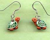 Turtle Love Sterling Silver Earrings   RESERVED FOR Tiituli71