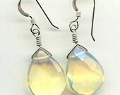 Pineapple Quartz Teardrop Sterling Silver Earrings