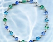 Ocean Breeze Sterling Silver Anklet