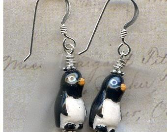 Penguin Sterling Silver Earrings